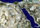 ملفات خاصة ( الأصول التاريخية لأسماء بعض المدن والقرى المصرية  ) Egypt-from-space-sm_small