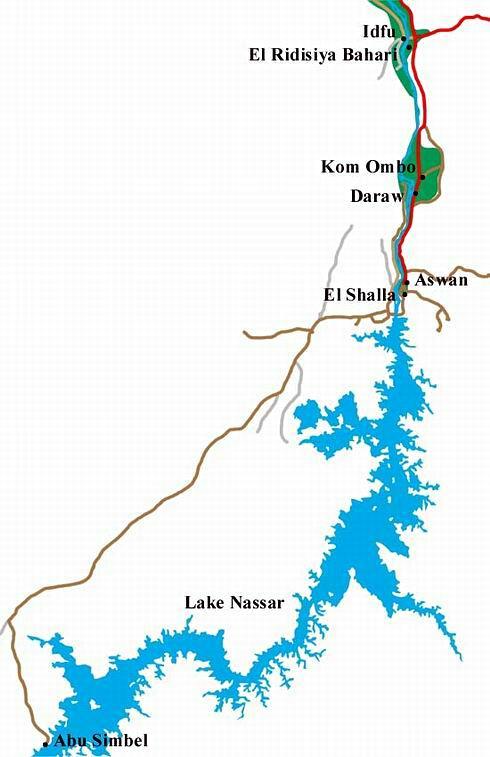 ナセル湖周辺概略図