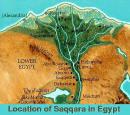 ملفات خاصة ( الأصول التاريخية لأسماء بعض المدن والقرى المصرية  ) Saqqara-delta_small